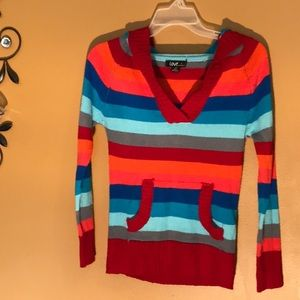Med girls stripe colorful sweater love by Chelsea